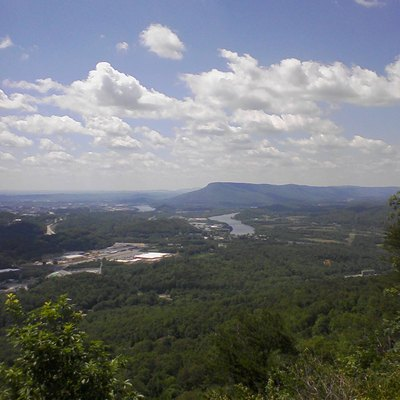 Lookout Mountain, As Viewed From Signal Mountain. The Photo Shows That The Mountain Is Actually A Plateau.
