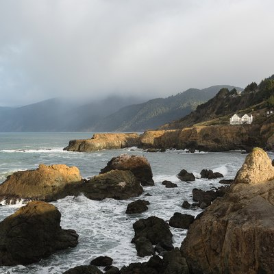 "Coastline of the ""Lost Coast"" – the most undeveloped and remote portion of the California coast – as seen from Shelter Cove, California"