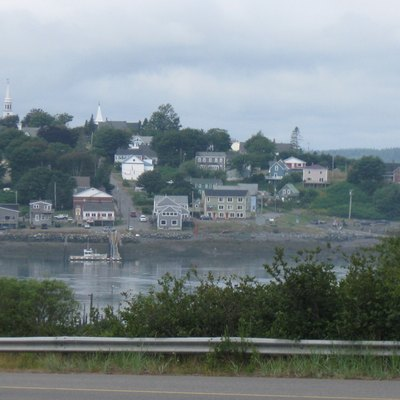 Downtown Lubec as seen from Campobello Island