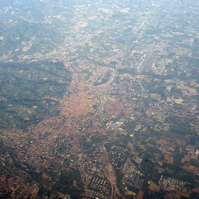 Aerial photographs of Bologna