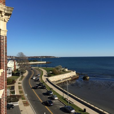 Northeasterly view over Lynn Shore Drive and the Lynn Shore Reservation in Lynn, Massachusetts