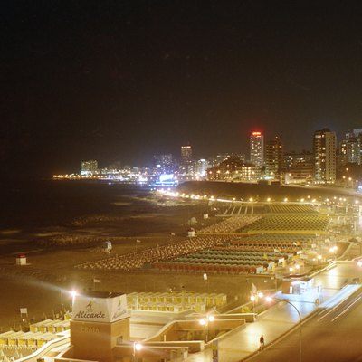 Mar del Plata's view at night from La Perla beaches