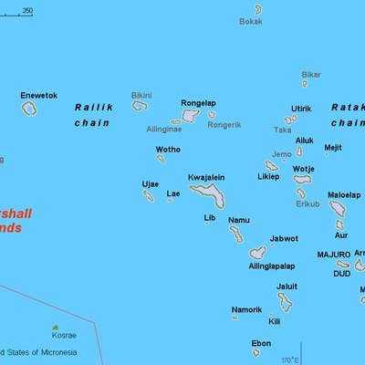 Map (rough) Marshall islands, own work composed from various mapreferences