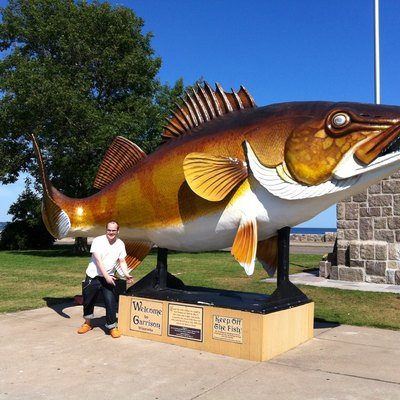 Lake Mille Lacs Fish Statue in Garrison, Minnesota