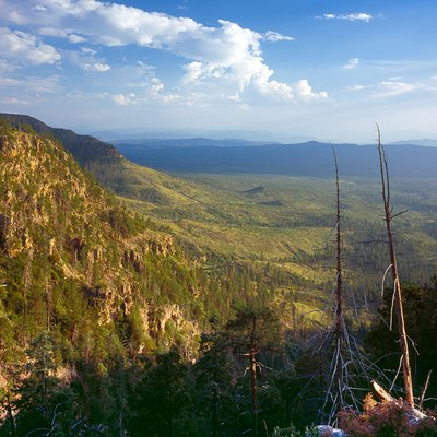 View from Mogollon Rim near Payson, Arizona