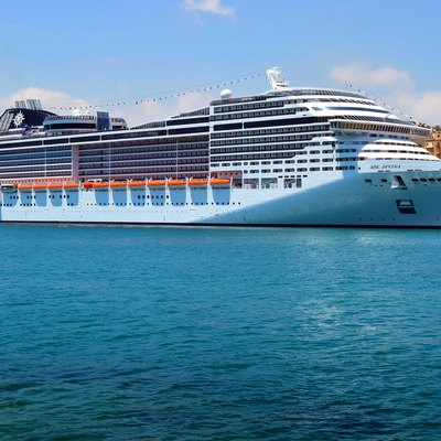 MSC Divina in Grand Harbour, Malta on its maiden cruise