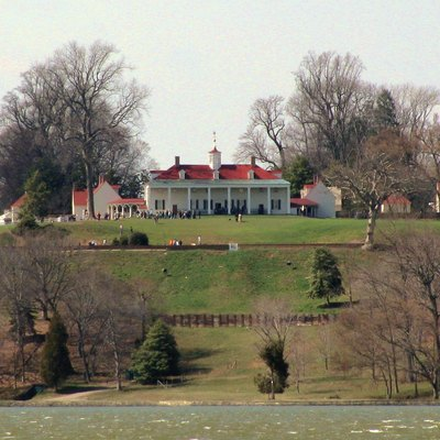 Mount Vernon Seen From The Potomac River.