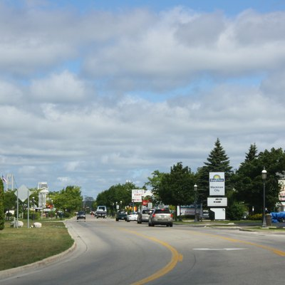 A district of hotels in w:Mackinaw City, Michigan.