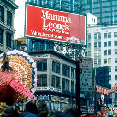 Macy'S Thanksgiving Day Parade Looking North From The East Side Of Broadway Between 47th &Amp; 48th Streets, 1979.