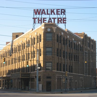 Front of the Madame C.J. Walker Manufacturing Company, located at 617 Indiana Avenue in Indianapolis, Indiana, United States. Built in 1927, it has been designated a National Historic Landmark.