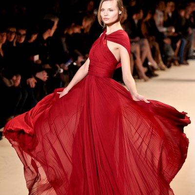 Photographed by Simon Ackerman at Elie Saab, Paris Fashion Week Fall 2011