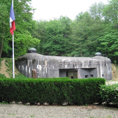 The amunitions entrance to Ouvrage Schoenenbourg along the Maginot Line in Alsace.