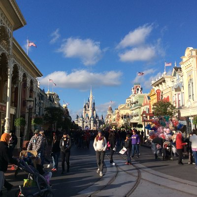 Main Street At Magic Kingdom At Walt Disney World.