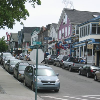 Main Street at West Street, Bar Harbor, Maine.