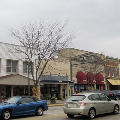 Main Street Historic District in Lake Geneva, Wisconsin