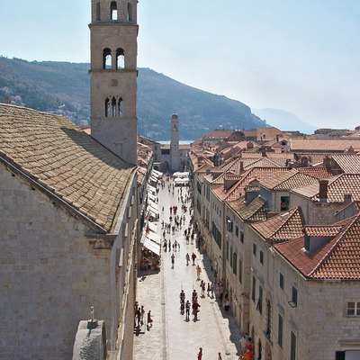 Stradun, main street of Dubrovnik old town in Croatia