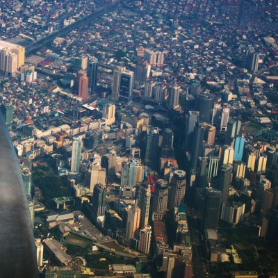 An aerial of photo of Makati CBD, Philippines. Showing Ayala Avenue circa 2010