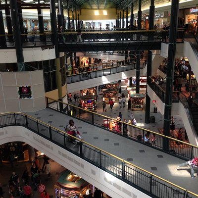 Inside the Mall of America in Bloomington, Minnesota. The mall has three levels.