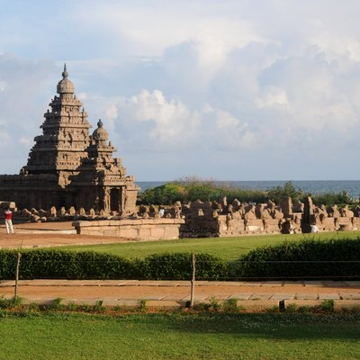 View of Shore Temple at Mamallapuram, Tamil Nadu