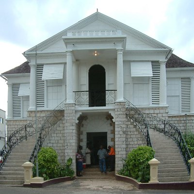 Courthouse in Mandeville, Jamaica. Photographed November 9,2005 by Op. Deo