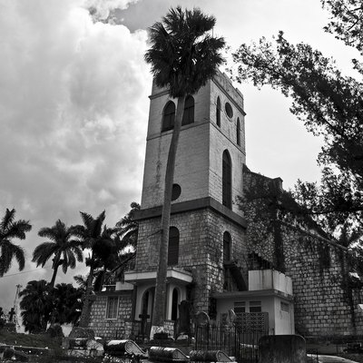 Mandeville Parish Church in Manchester Parish in Jamaica. Was the church of w:George Wilson Bridges Founded A.D. 1816