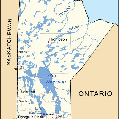 This is a general map of the Manitoba.