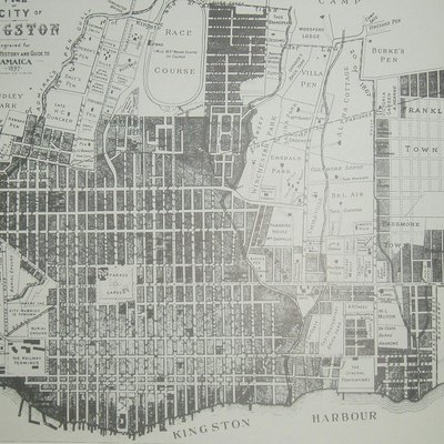 Map Of Kingston Jamaica In The 1890s