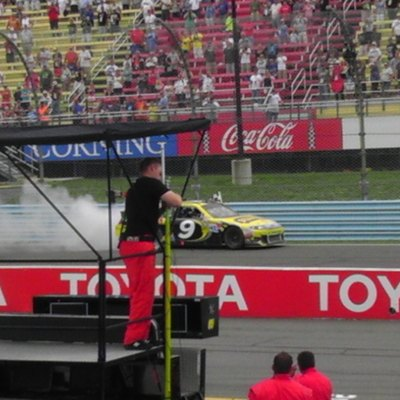 Marcos Ambrose Celebrating the Finger Lakes 355 at the Glen