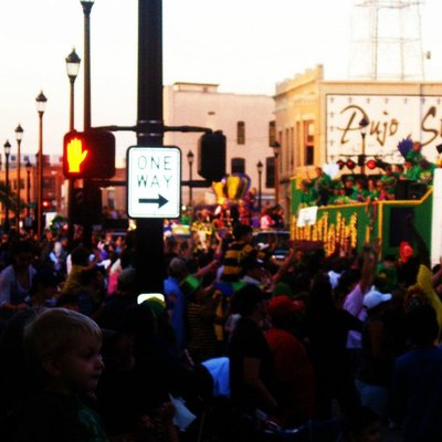 Mardi Gras parade in downtown Lake Charles.