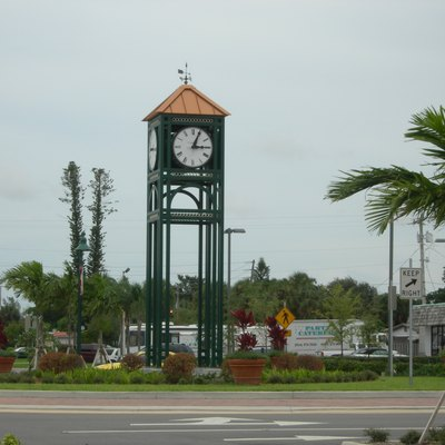 Clock tower in Margate, Florida