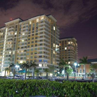 Photograph of the Marina Village complex in Boynton Beach, Florida.