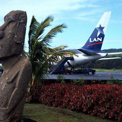 Mataveri Airport at the Easter Island, Chile