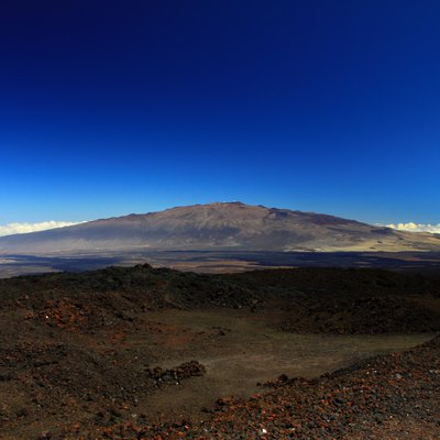 View of the mountain from Mauna Loa Observatory
