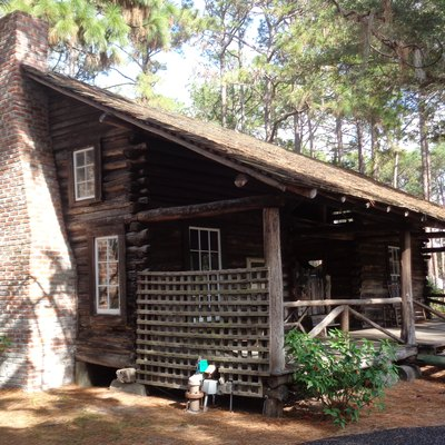 Log cabin built by the McMullen family in 1852 and later occupied by the Coachman family near what is now Clearwater, Florida. Now located at Heritage Village in Largo, Florida, it is the oldest standing structure in Pinellas County, Florida.
