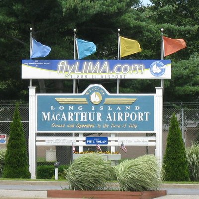 Entrance to Long Island MacArthur Airport.