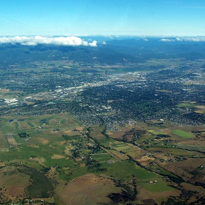 An aerial image of Medford, Oregon.