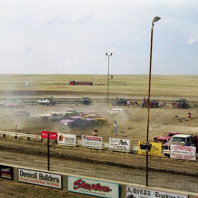 Racing at the Medicine Hat Speedway Derby, Alberta, Canada