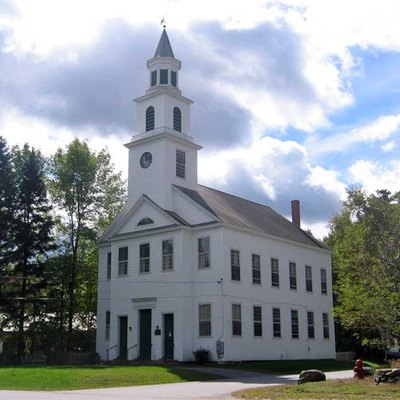 The Meeting House Congregational Church on South Road in Marlboro, Vermont, not to be confused with the Town (Meeting) House nearby.