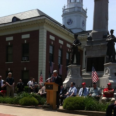 Memorial Day Observance in small New England towns are often marked by dedications and remarks by veterans, state legislators and selectmen