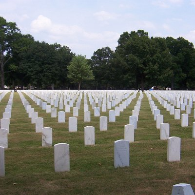 Photo of the National Cemetery in Memphis, TN.