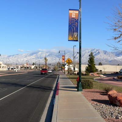 Street view near city hall, Mesquite, Nevada
