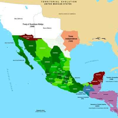 Territorial Evolution of Mexico since 1821 to 2009