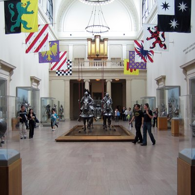 The Main hall of the Arms and Armor collection of the Metropolitan museum of Art in NYC