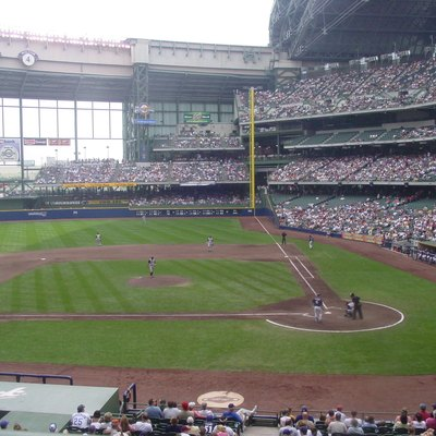 Taken by myself, Jeramey Jannene, during a Milwaukee Brewers game on the 5th of September last year. The game was against the Cinncinati Reds.