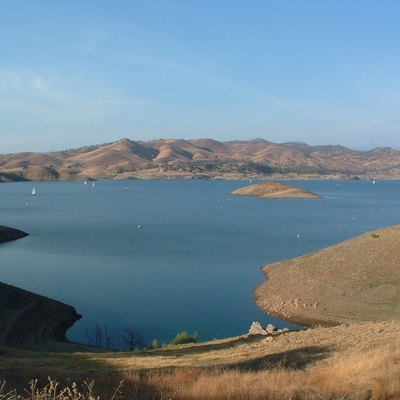 This is a picture of Millerton Lake, a lake near the town of Friant in Fresno County, California, about 15 miles north of downtown Fresno. The lake is formed by Friant Dam on the San Joaquin River. The picture was taken by me on September 12, 2003. I give permission for the picture to be used with attribution under the GFDL and Creative Commons.