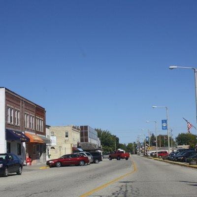 Looking north in downtown Milton