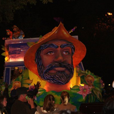 Order of Inca parade during Carnival in Mobile, Alabama.