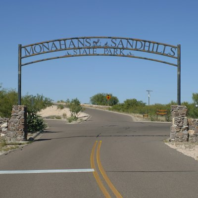 Entrance to Monahans Sandhills State Park of West Texas.