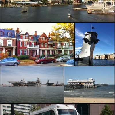 Montage of images from Norfolk, Virginia, USA