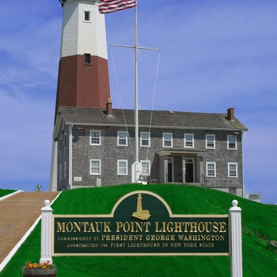 Montauk Point Light In Suffolk County, New York.